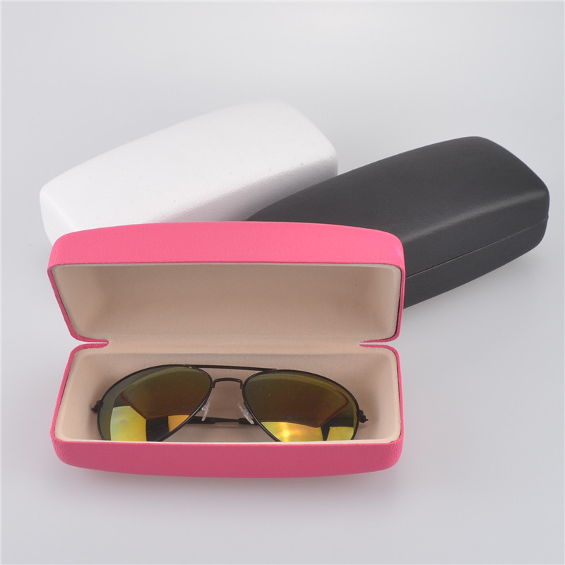 Big Square PU lederen zonnebril box voor vrouwen bril zonnebril Hard Case Box Bag Portable Protector Holder