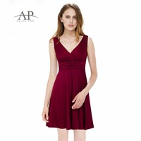 Women Clothing Dresses Ever Pretty HE05294 Women V Neck Sleeveless High Stretch Summer Casual Dress Royal
