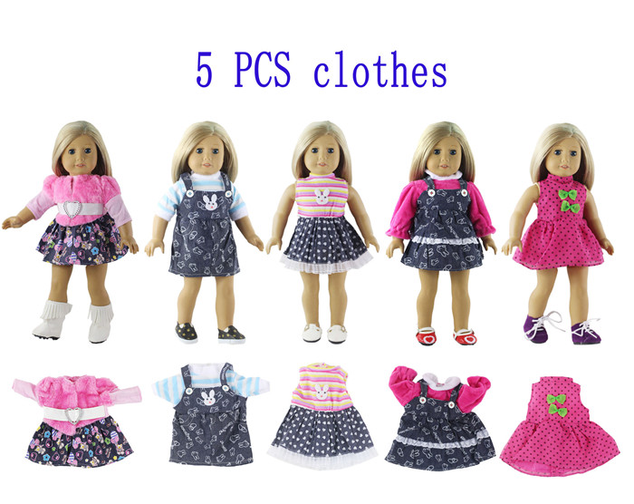2 Pcs Set Fashion Outfits//Clothes Top+pants For 12 inch Doll A03