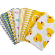 hot deal buy 8pcs size 40x50cm 100% cotton fabrics mult-colour cute duck pattern diy quilting sewing bundle for patchwork fabric crafts