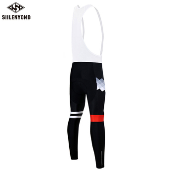 Siilenyond 2019 Pro Winter Thermal Cycling Bib Pants MTB Bike Cycling Bib Tights With 3D Gel Padded Shockproof Cycling Trousers 2