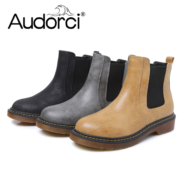 5050fc1bd37e Audorci Women s Casual Boots Winter Warm Short Ankle Boots Women Chelsea  Boots Size 34-43