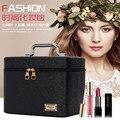 Grande capacidade beleza multi-função organizador de viagem à mão adorável zíper cosméticos caso bolsa compõem o saco