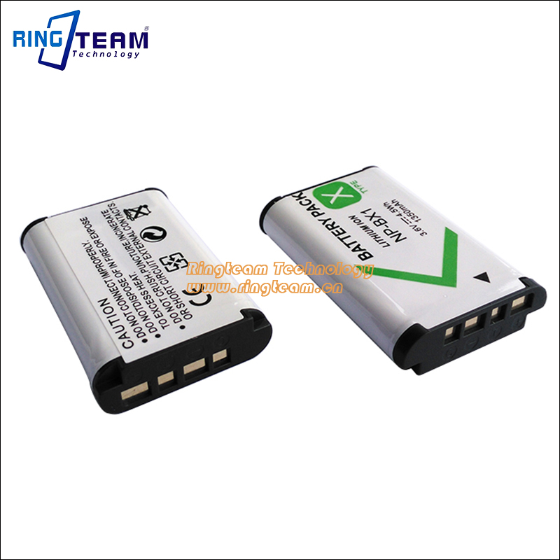 RX1 RX1R RX100 II III HX60V H400 WX350 2pcs Battery for Sony NP BX1 DSC