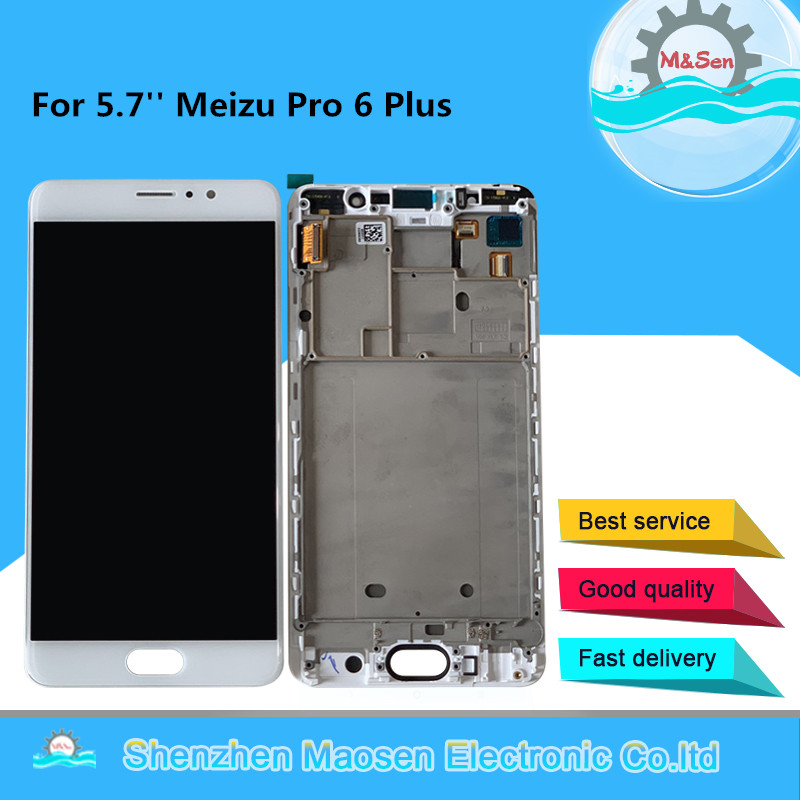 дисплей meizu pro 6 plus белый - M&Sen For 5.7 Meizu Pro 6 Plus AMOLED LCD Screen Display+Touch Screen Panel Digitizer With Frame For Meizu Pro6 Plus Display