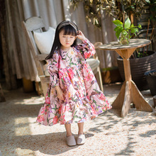 2018 new Kids Dresses Children Girls Long Sleeve Floral Princess Dress Spring Summer Dress Baby Girls Clothes dress for girls