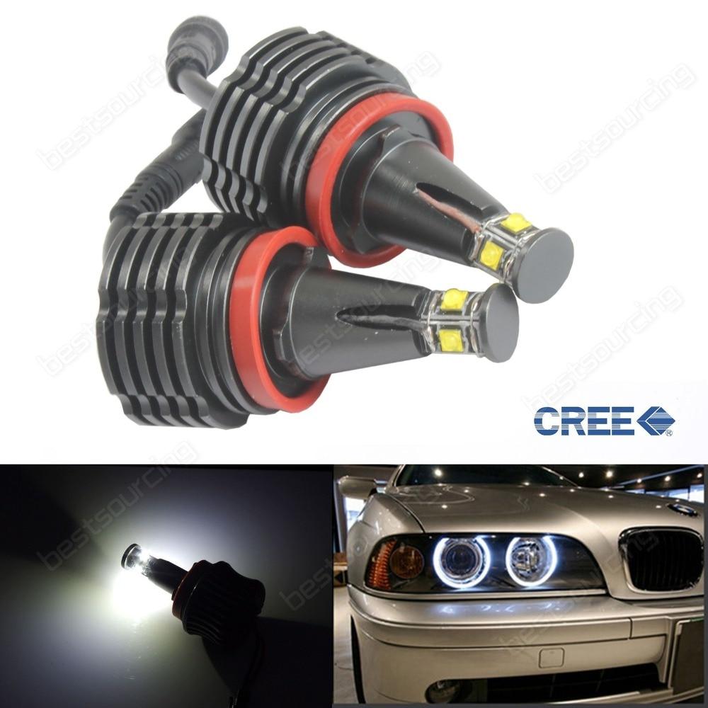 Экспресс Бесплатная доставка 5pairs/много 20W н8 4 светодиод Cree светодиодный маркер Ангел глаз для BMW Е92 Е93 Х5 Х6 2009 года Е87 Е90
