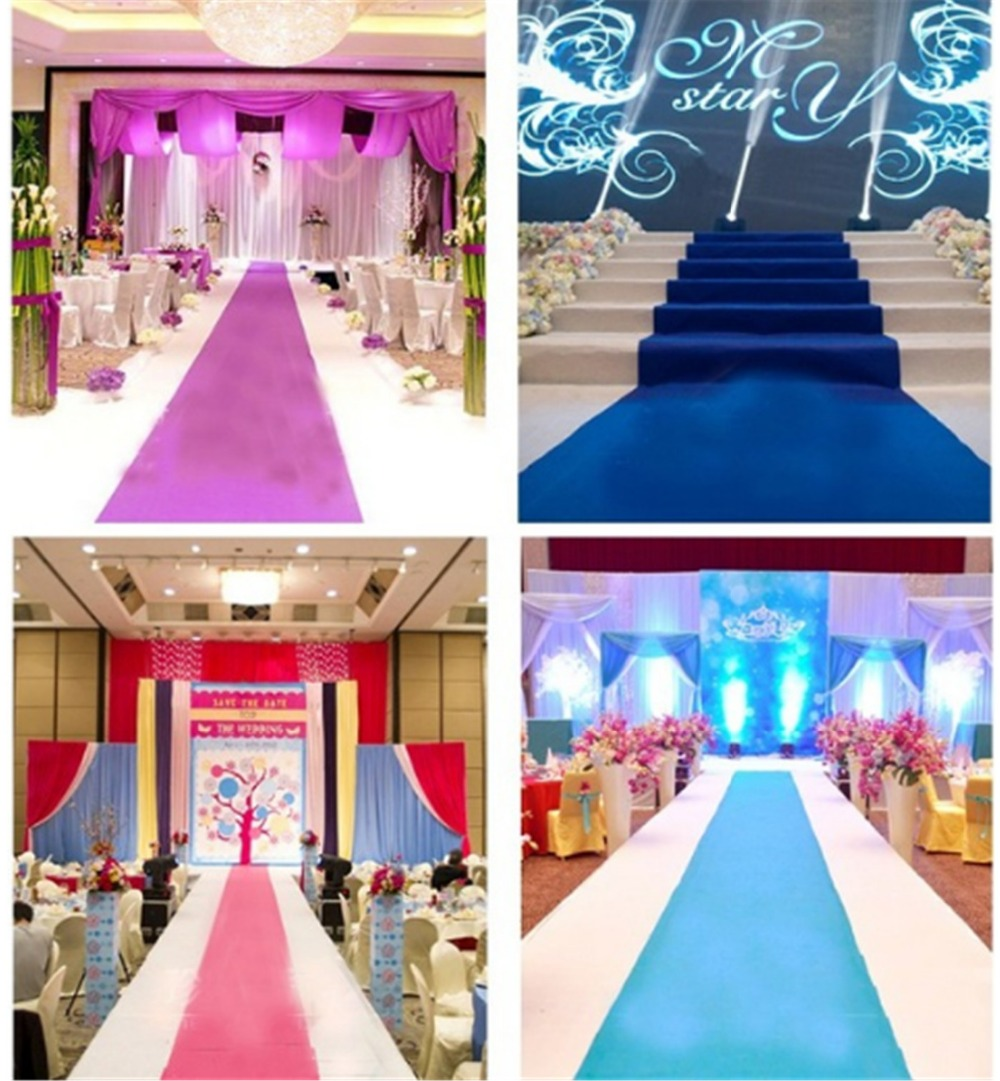 Large 100cmx5meters Wedding Red Carpet Birthday Party Hollywood Event Decoration Wedding Aisle Floor Runner DK059