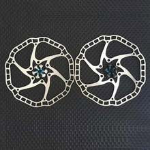 цены Ultra-light Bicycle Hydraulic Disc brake Rotors  MTB bike Road Racing Bike Brake Disc Rotor 140mm / 160mm 44mm 6 bolts
