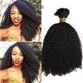 Virign brasileño del trenzado del pelo humano rizado rizado 100 g/unid calidad superior afro rizado rizado extensión del pelo humano sin trama
