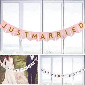 Image 5 - Wedding Buntingเพิ่งแต่งงานPhoto Booth Propงานแต่งงานงานเลี้ยงงานแต่งงานงานตกแต่งธงแบนเนอร์
