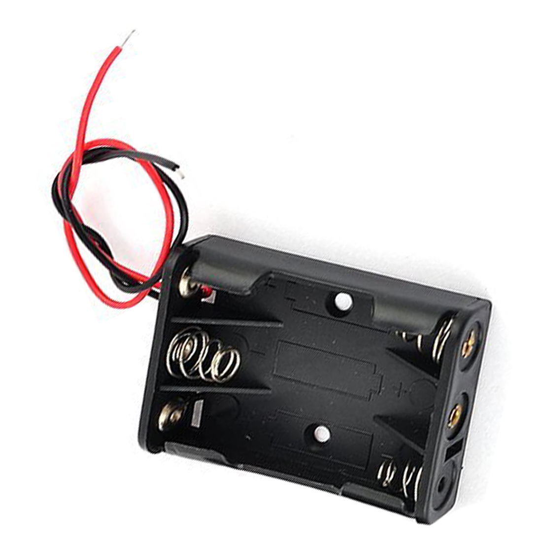 Aodesy 5 x 1.5V AA Battery Batteries Holder Case w Wires Lead Black,Pack of 5
