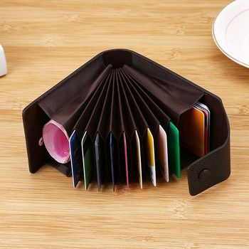 Leather Wallet ID Credit Card Pocket Organizer Money  2