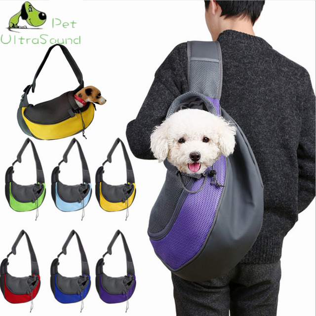 Ultrasound Pet Breathable Dog Carrying Bags Mesh Comfortable Travel Tote Shoulder Bag For Puppy Cat Small