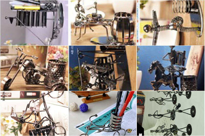 Wholesale/retail, free shipping, Home office decoration iron crafts personality Music small craftsmen Decoration desk livinggift