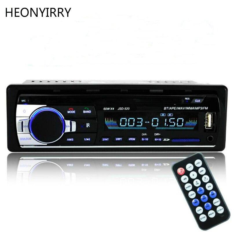 Auto Radio 12V Car Radio Bluetooth 1 din car stereo Player Phone AUX-IN MP3 FM/USB/radio remote control For phone Car Audio