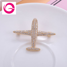 GAOLA New Trendy Design Plane Brooch Pin Cubic Zirconia Jewelry Austrian Crystal Brooches