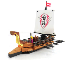 Model building kits compatible with lego pirates series 201 3D blocks Educational model building toys hobbies for children
