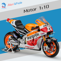 1 10 Scale New 2014 Honda Repsol RC213V Metal Diecast Model Motorcycle Motorbike Racing Cars MotoGP