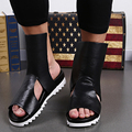 2017 New Arrival Mens Fashion Real Leather Gladiator Sandals Summer Platform Sandals Breathable Casual Shoes for Men Size 38-46
