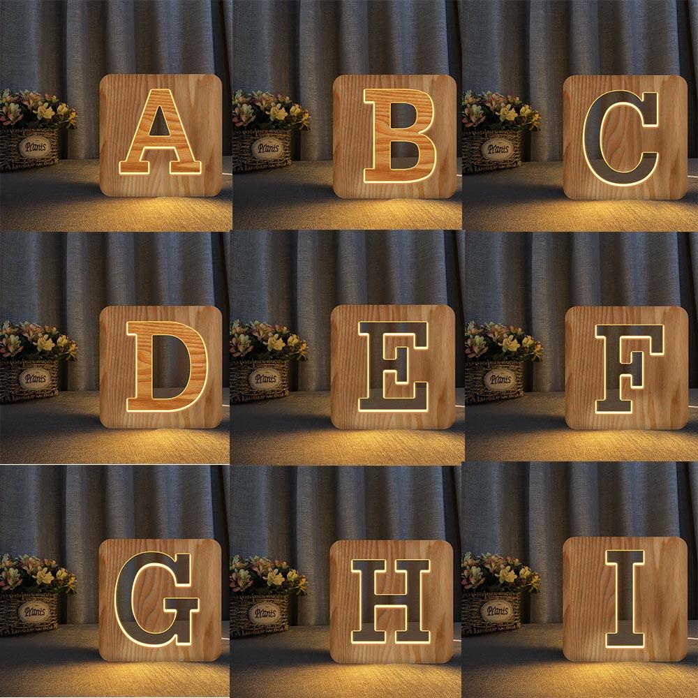 da noite sinal do famoso alfabeto luzes 03