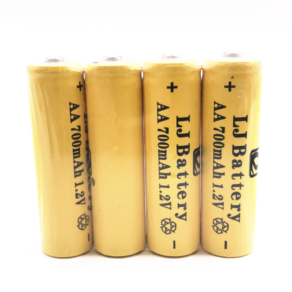 4 x AA 700mAh <font><b>1.2</b></font> <font><b>V</b></font> Quanlity Rechargeable Battery <font><b>NI</b></font>-<font><b>CD</b></font> 1.2V Rechargeable 2A Battery Baterias Bateria Batteries 500 Times image