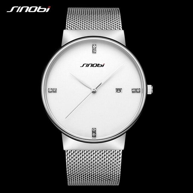 d7c77d8ba55 Homens de Negócios Relógios de Quartzo Top De Luxo Da Marca SINOBI Moda  Simples Relógio Ultra