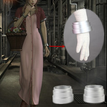 Athemis anime final fantasia vii aerith cosplay prop pulseira de prata acessórios cosplay
