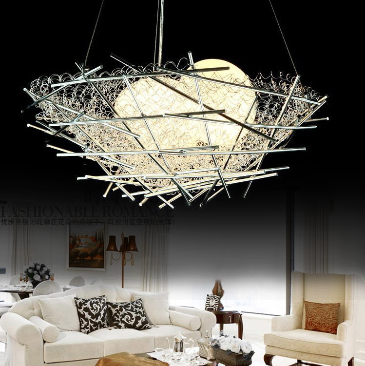 bedroom lamps pendant lampFREE SHIPPING bird nest lighting modern dining room GALSS pendant light ZCL new bird nest lighting modern dining room galss pendant light bedroom lamps pendant lamp 2016zzp