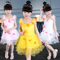 2016 summer new children's clothing girls dress lace flowers baby girl clothes