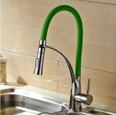 3 Colours Kitchen faucet hot and cold Stretching Kitchen sink basin faucet chrome Rotated dish basin
