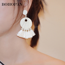 Bohemia Earrings For Women Candy Color Acrylic Tassel Drop Earrings Girl Fashion Jewelry Charm earrings 2018 Party Gift Brincos 2018 summer new india golden jhumki earrings bohemia blue tassel earrings hippy charm fake beach travel jewelry