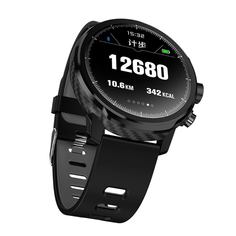 L5 Smart Watch MenIP68 Waterproof Heart Rate Fitness Tracker Message Call Reminder Weather Multiple Sport Smartwatch image