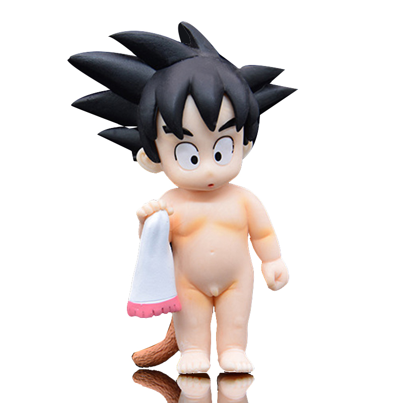 10cm Anime Dragon Ball Z Childhood Goku Decorative Doll Action Figure PVC Collection Model toys for children Boy Birthday Gift