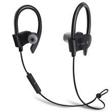 Dois-ear fones de ouvido universais IPX7 esportes fone de ouvido à prova d' água sem fio bluetooth baixo fone de ouvido com microfone para iPhone telefone xiaomi