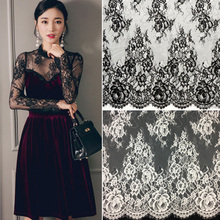 5 Yards /lot DIY handmade clothing accessories material lace fabric embroidery trim mesh width 19.5cm Purple