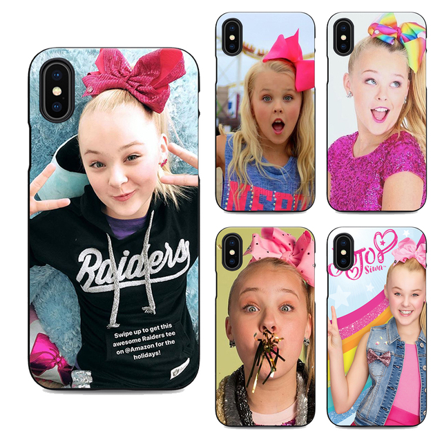 best service 32063 00ce8 US $2.37 5% OFF|jojo siwa soft Silicone black cover phone case for iPhone X  XR XS MAX 6 7 8 plus 5 5s 6s se for Apple 10 best design Housing-in ...