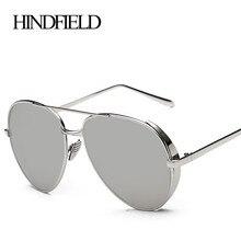 HINDFIELD Retro Marco Redondo Del Metal Gafas de Sol Steam Punk Mujeres de La Vendimia Diseñador de la Marca gafas de Sol Para Mujer gafas de sol mujer