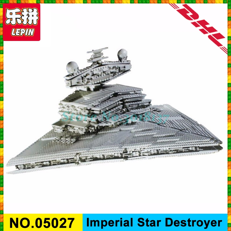 In Stock LEPIN 05027 3250Pcs Star Emperor Fighters Wars Ship Model Building Kit Block Bricks Toy Compatible with 10030 Boy Gifts lepin 22001 pirate ship imperial warships model building block briks toys gift 1717pcs compatible legoed 10210