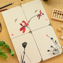 2018 Retro Chinese Style Flax Planner Notebook Diary Office Stationery School Supplies WJ-XXWJ327-