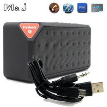 M & J ลำโพงบลูทูธ X3 Jambox Style TF USB FM เครื่องเล่นเพลงแบบพกพากล่องเสียงซับวูฟเฟอร์ลำโพงพร้อมไมโครโฟน caixa de som
