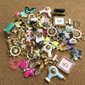 50PCS Assorted Designs Enamel Jewelry Charms DIY Bracelet Necklace Earring Floating Gold Tone Pendant Charm Oil Drop Charm