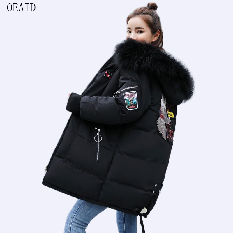 41ae2d25608 OEAID New Plus Size 3XL Fur Coat Women Parka Long 2018 Winter Coat Women  Jackets And Coats Thick Loose Casual Ladies Coats-in Parkas from Women s  Clothing ...
