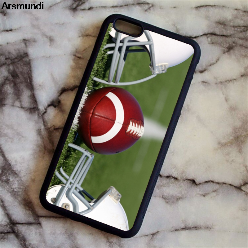 Arsmundi Cool Personalized Number Name Soccer Foot Ball Phone Cases for iPhone 4S 5S 6S 7 8 X PLUS Case Soft TPU Rubber Silicone