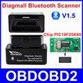 Super Mini Diagmall Bluetooth V1.5 Scanner Com Chip PIC18F25K80 Melhor Do Que ELM327 OBD2 Ferramenta De Diagnóstico Para Todos Os Protocolos de OBDII