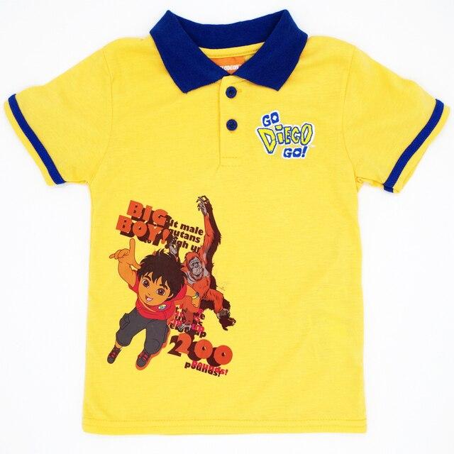 2af99bb71 € 3.92 43% de DESCUENTO|Niños Niñas camisetas de manga corta ropa de niño  bordado patrón de dibujos animados bebé Polo camisa Unisex Tops marca ...