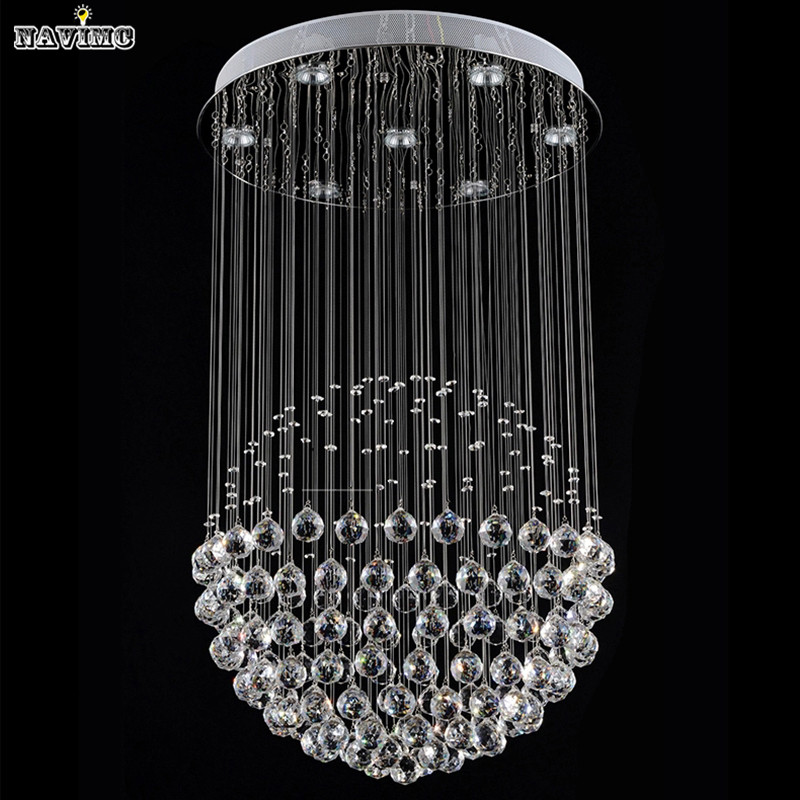 Modern LED Crystal Ceiling Lights Stair Hanging Lamps Fixtures With Multi-Size Ac 100V to 240v For Indoor Home Kingdom LightingModern LED Crystal Ceiling Lights Stair Hanging Lamps Fixtures With Multi-Size Ac 100V to 240v For Indoor Home Kingdom Lighting