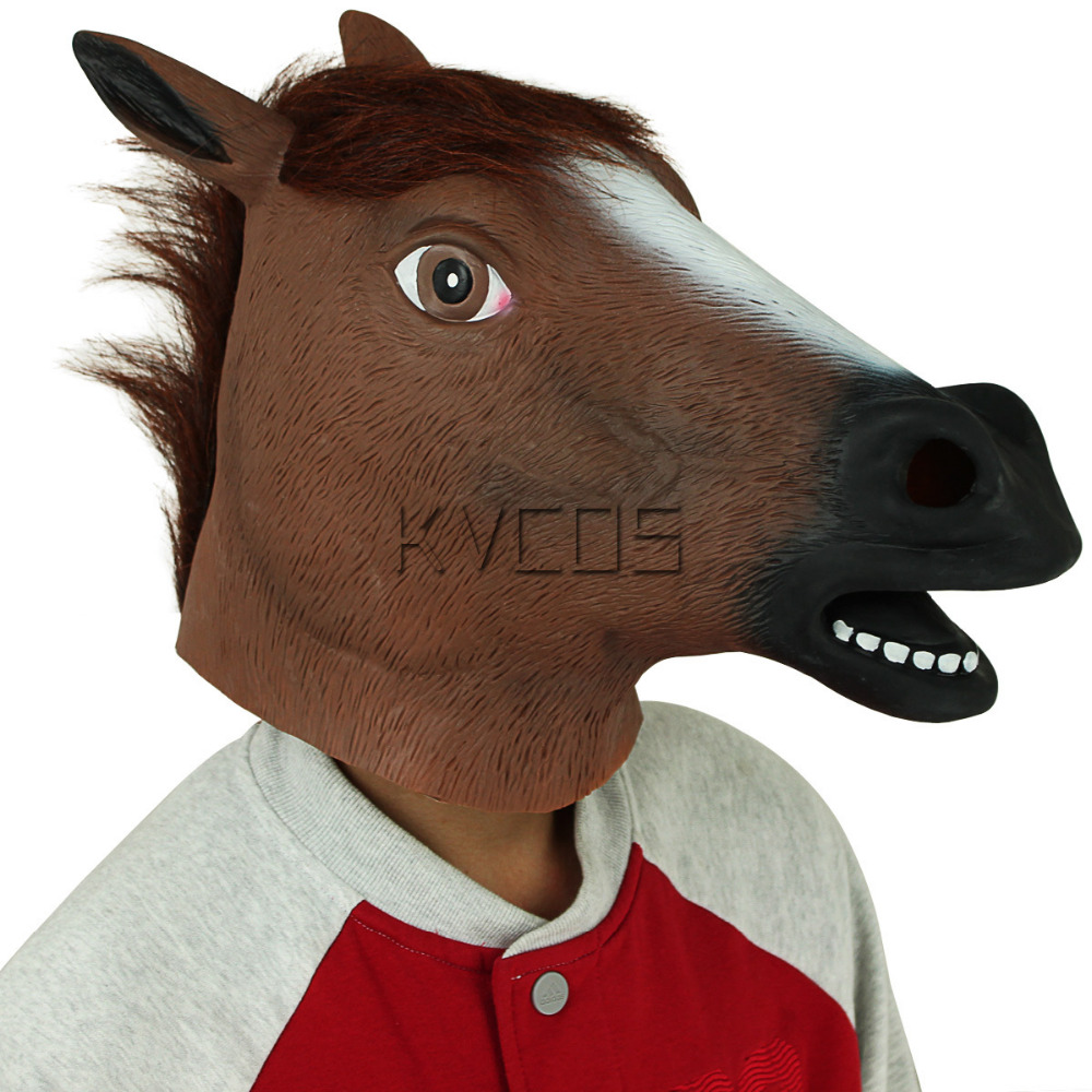 Creative Creepy Horse Head Mask Halloween Christmas Costume Theater Prop Novelty Latex Rubber Full Face Horse Mask-in Boys Costume Accessories from Novelty ...  sc 1 st  AliExpress.com & Creative Creepy Horse Head Mask Halloween Christmas Costume Theater ...