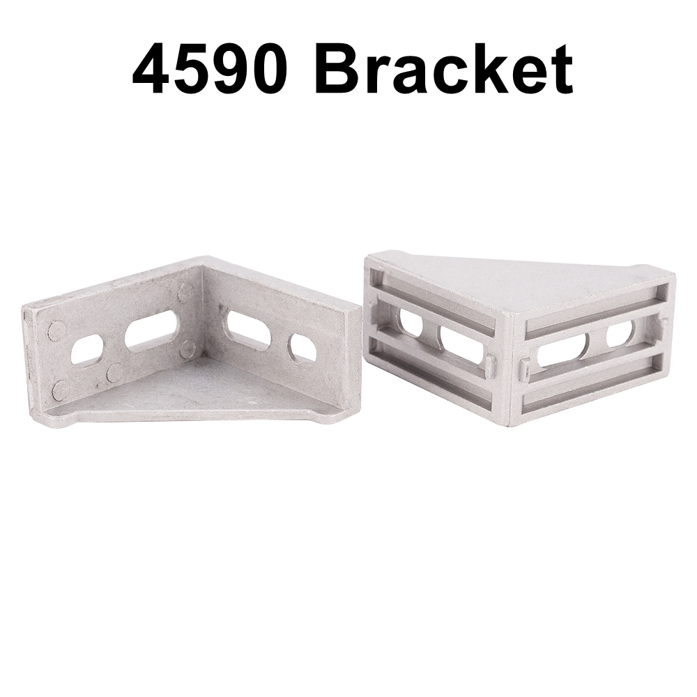 2pcs Aluminum Angle Joint Connector Bracket for Aluminum Profile Extrusion 4545 or 4590 Series 10 50 meters pack 1m per piece led aluminum profile slim 1m with milky diffuse or clear cover for led strips