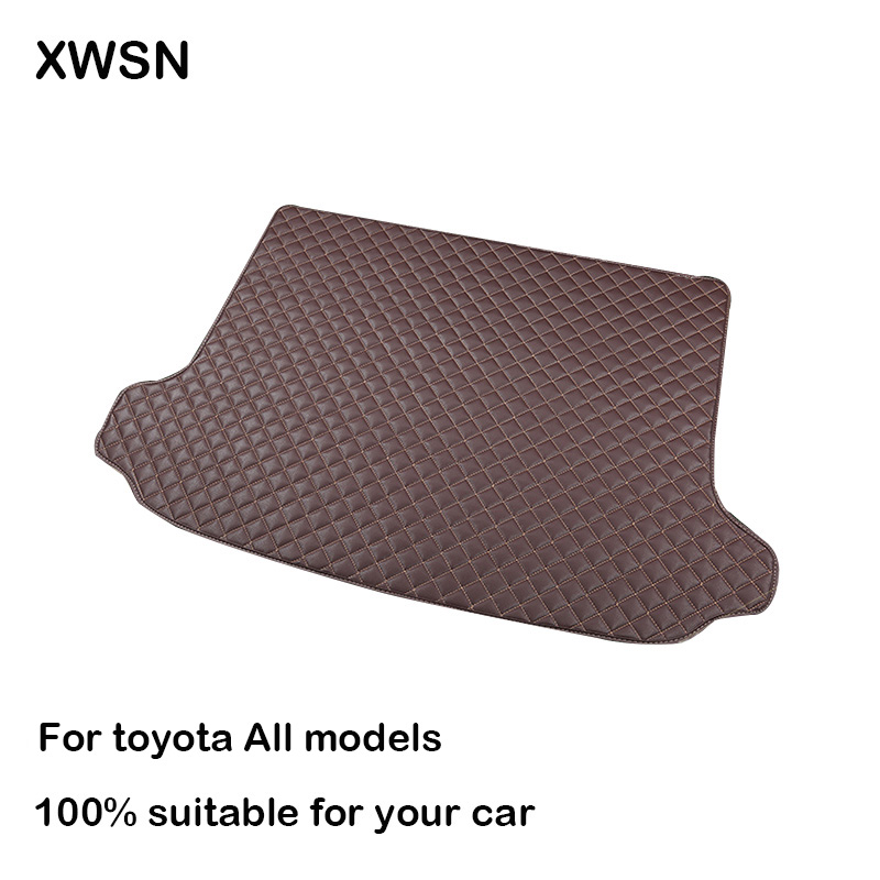 XWSN Car trunk mat for toyota fortuner toyota camry toyota land cruiser corolla auris prius yaris